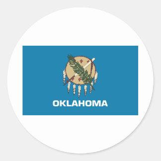 Oklahoma Flag Classic Round Sticker