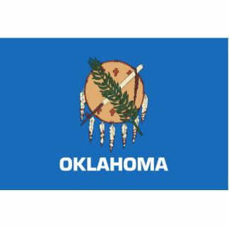 Oklahoma Flag Keychain Cut Out