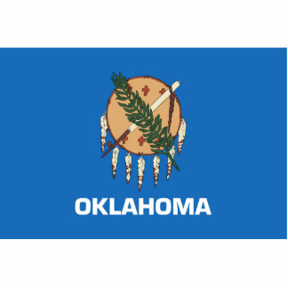 Oklahoma Flag Magnet Cut Out