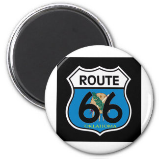 Oklahoma flag Route 66 Shield Magnet