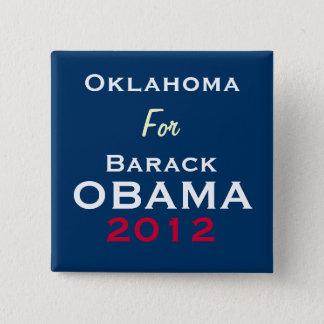 OKLAHOMA For OBAMA 2012 Campaign Button