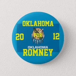 Oklahoma for Romney 2012 6 Cm Round Badge