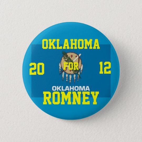 Oklahoma for Romney 2012 6 Cm Round Badge
