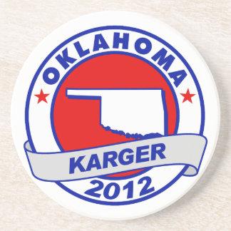 Oklahoma Fred Karger Beverage Coasters