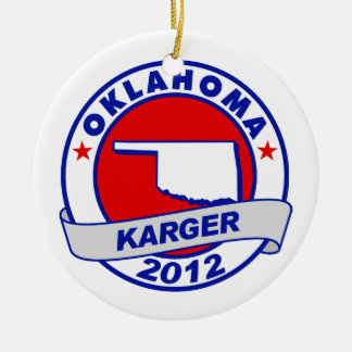 Oklahoma Fred Karger Christmas Tree Ornaments