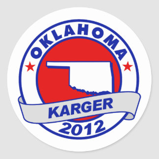 Oklahoma Fred Karger Stickers