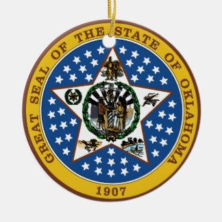 Oklahoma Great Seal Christmas Ornament