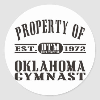 Oklahoma Gymnast Stickers