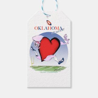 oklahoma head heart, tony fernandes gift tags