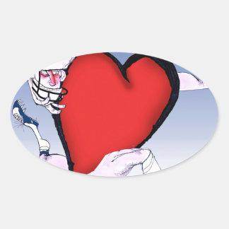 oklahoma head heart, tony fernandes oval sticker