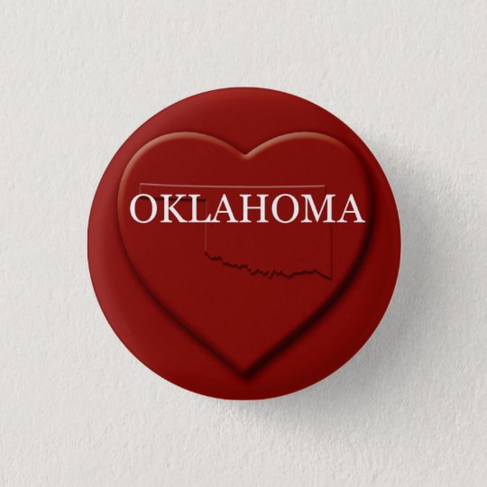 Oklahoma Heart Map Design Button