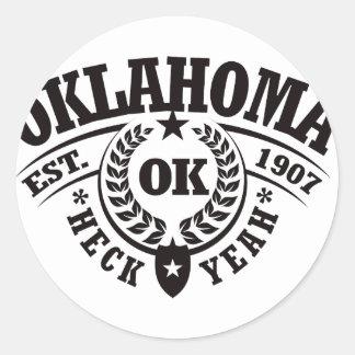 Oklahoma Heck Yeah Est 1907 Sticker