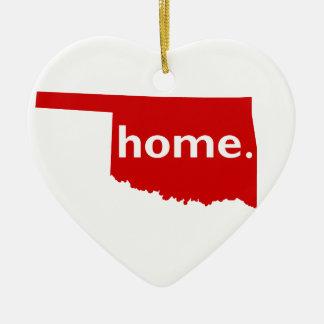Oklahoma Home Christmas Ornament