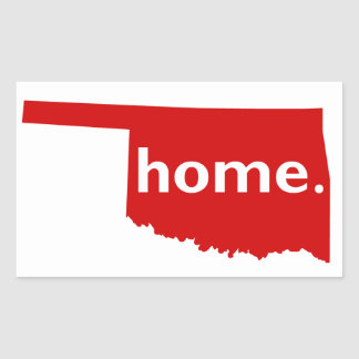 Oklahoma Home Rectangular Sticker