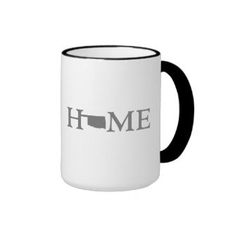 Oklahoma HOME State Ringer Coffee Mug