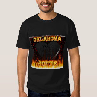 Oklahoma Hottie fire and red marble heart. Tee Shirt