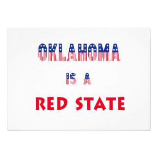 Oklahoma is a Red State Invitation