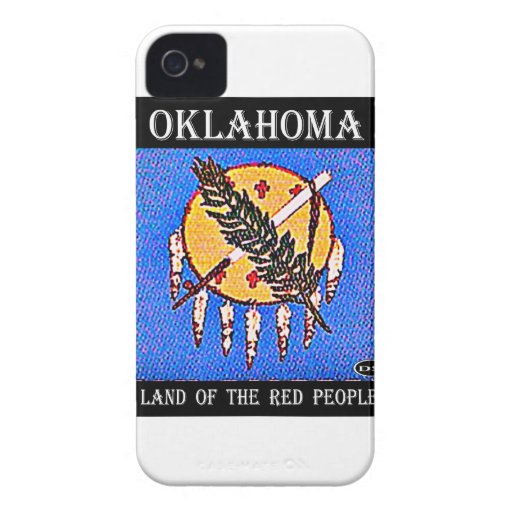 Oklahoma Land of the Red People iPhone 4 Case-Mate Case