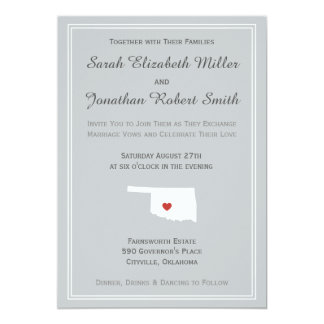 Oklahoma Love - Customizable Wedding Invitation
