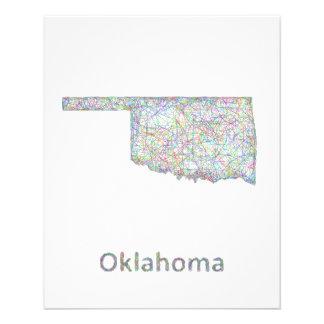 Oklahoma map 11.5 cm x 14 cm flyer