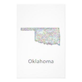 Oklahoma map 14 cm x 21.5 cm flyer