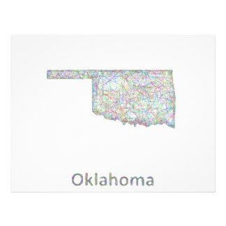 Oklahoma map 21.5 cm x 28 cm flyer