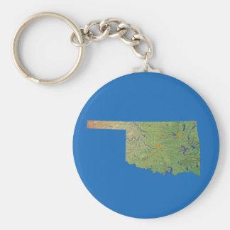 Oklahoma Map Keychain