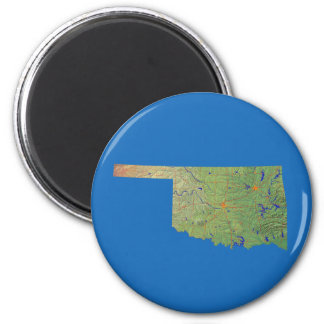 Oklahoma Map Magnet