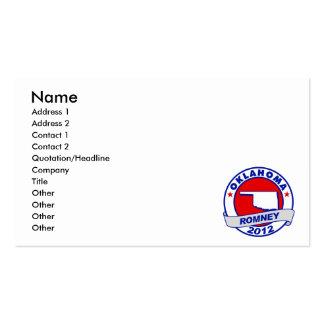 Oklahoma Mitt Romney Business Card Templates