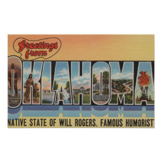 Oklahoma (Native State of Will Rodgers) Poster