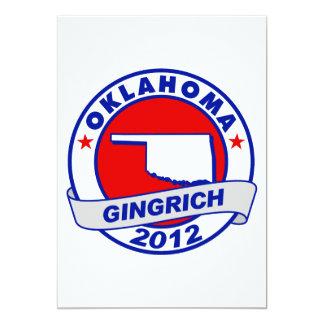 "Oklahoma Newt Gingrich 5"" X 7"" Invitation Card"