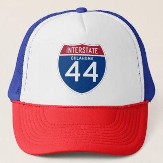 Oklahoma OK I-44 Interstate Highway Shield - Trucker Hat