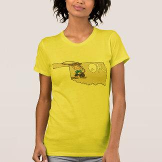 Oklahoma OK Map & Cowboy Cartoon Art Motto Tee Shirts