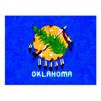 Oklahoma Painted Flag Products Postcard