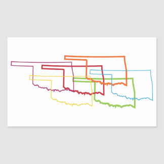 oklahoma pride blur rectangular sticker