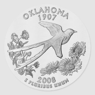 Oklahoma Quarter Sticker
