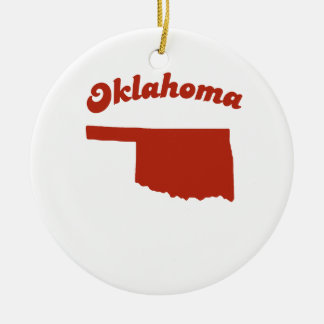 OKLAHOMA Red State Ornaments
