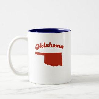 OKLAHOMA Red State Two-Tone Coffee Mug