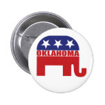 Oklahoma Republican Elephant Pinback Buttons