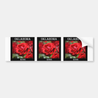 Oklahoma Rose Bumper Sticker
