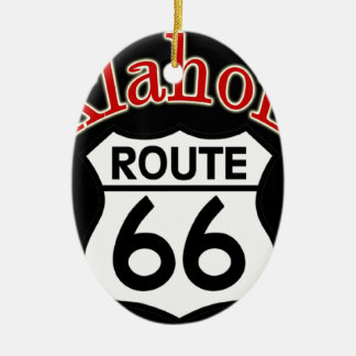 Oklahoma Route 66 Shield Christmas Ornament