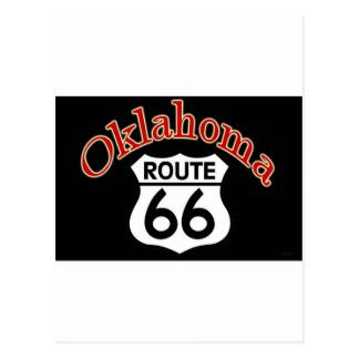 Oklahoma Route 66 Shield Postcard