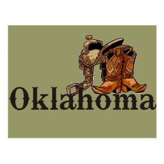 Oklahoma Saddle and Boots Postcard