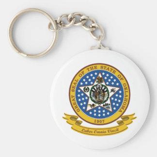 Oklahoma Seal Key Ring