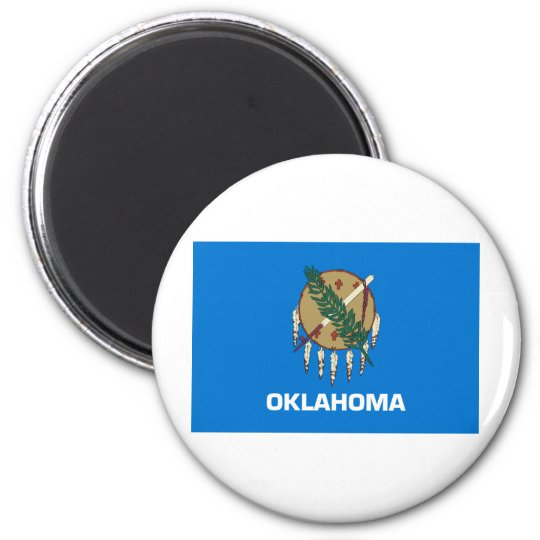 Oklahoma State Flag 6 Cm Round Magnet