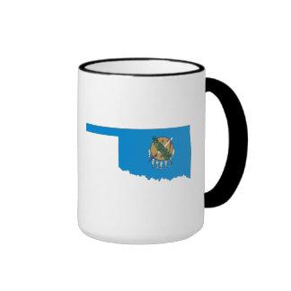 Oklahoma State Flag and Map Coffee Mugs
