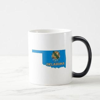 Oklahoma State Flag and Map Coffee Mug