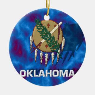 Oklahoma State Flag Christmas Ornament