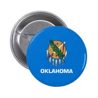 Oklahoma State Flag Design 6 Cm Round Badge
