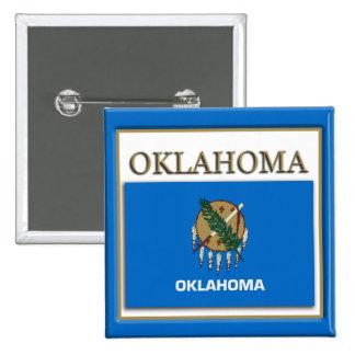 Oklahoma State Flag Design Button